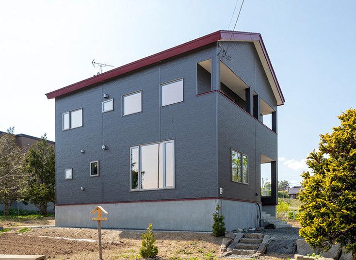 羊蹄山ビューが設計主旨のパッシブ換気の家